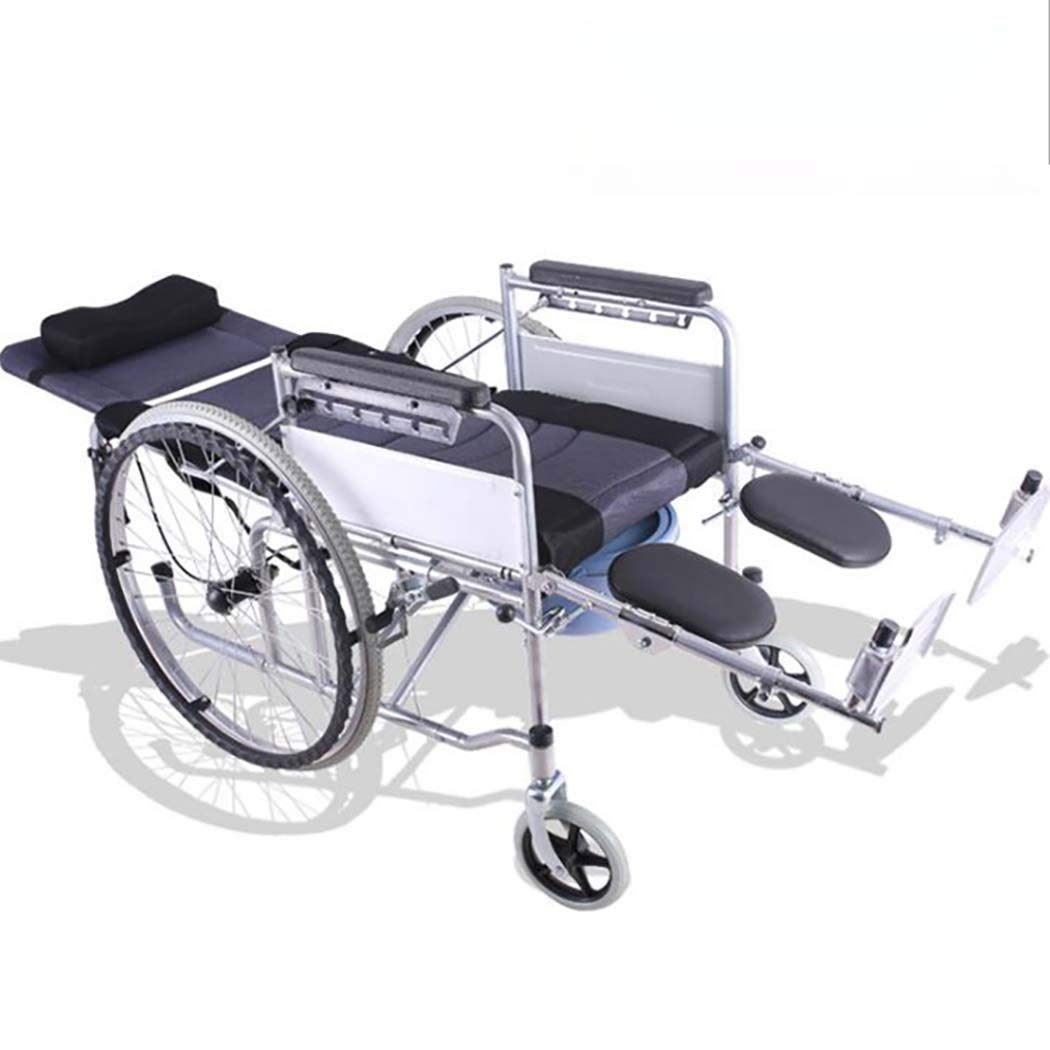 DPPAN Drive Medical Transport Silla de ruedas Plegamiento ligero, estructura de tubo de acero que eleva los reposapiés para facilitar las transferencias,17