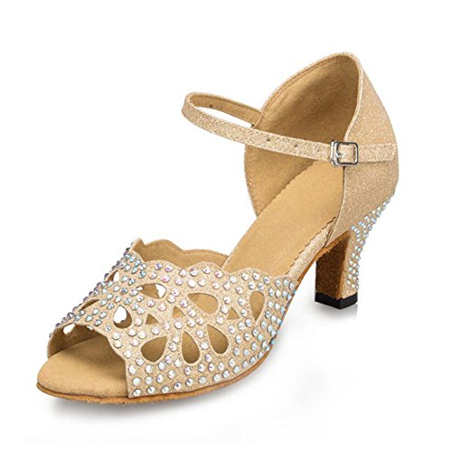 Heel Party Sparkling A Dance Shoes Color Color Women's Glitter Glitter Indoor Suede Size XUE Shoes Sandal 41 A amp; Sparkling Evening Latin zPfUxq0