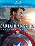 Captain America: The First Avenger (Blu-ray 3D + Blu-ray + DVD + Digital Copy) by Buena Vista Home Entertainment