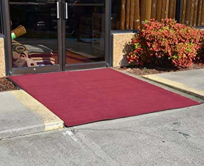 Dean Flooring Company Indoor/Outdoor Patio Deck Boat Entrance Carpet/Rug Mat with Marine Backing - Size: 6' x 10' - Color: Burgundy