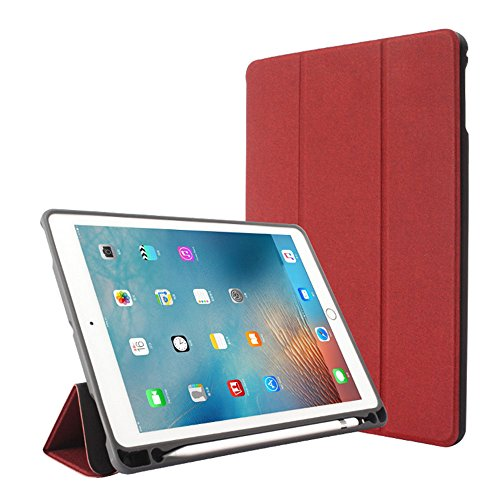 Price comparison product image New iPad 9.7 2018 6th Generation Case / iPad Pro 9.7 Case with Apple Pencil Holder,  Wonzir Slim Lightweight Stand Protective Cover with Auto Wake / Sleep for Apple iPad 9.7 Inch Tablet (ipad 9.7,  Red)
