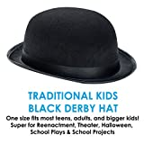Derby Hat - 19th Century Black - Halloween Costume