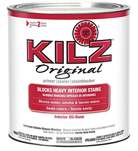 KILZ Original Multi-Surface Stain Blocking Interior Oil-Based Primer/Sealer (Low VOC Formula), 1 Quart, -