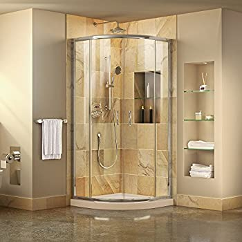 DreamLine Flex 32 in. x 32 in. Semi-Frameless Pivot Shower Enclosure ...