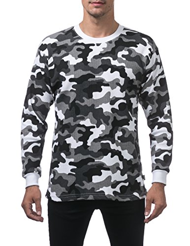 Pro Club Men's Heavyweight Cotton Long Sleeve Thermal Top, 2X-Large, City (Camouflage Thermal)