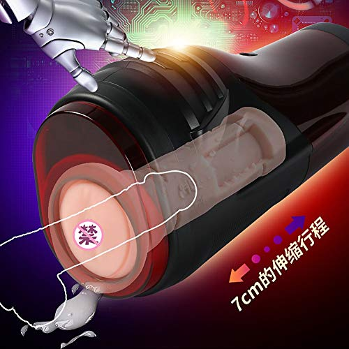 220 V Male Mastur-bator Cup 10 Powerful Thrus-ting Modes Fully Automatic Electric Mast-rbation Stroker Adult Vi-be Realistic Vagi-na Po-cket Pu-SSY S-ex Toys for Men by Qsccsss (Image #5)
