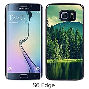 New Beautiful Custom Designed Cover Case For Samsung Galaxy S6 Edge With Lake And Tree Phone Case