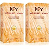 K-Y Warming Liquid Lubricant, 2.5 oz. (Pack of 2)