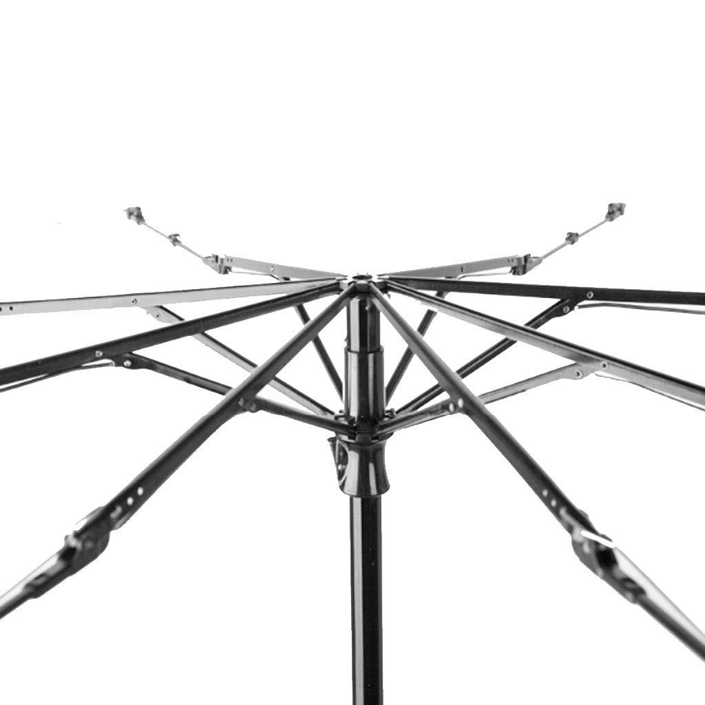 Teng Peng- Compact Travel Umbrella- Parasol Portable Folding Umbrella Sun Shade Anti-uv Fast Drying Windproof Travel Umbrella-Windproof Double Canopy Construction-Teflon Coating Household Umbrella by Teng Peng (Image #4)
