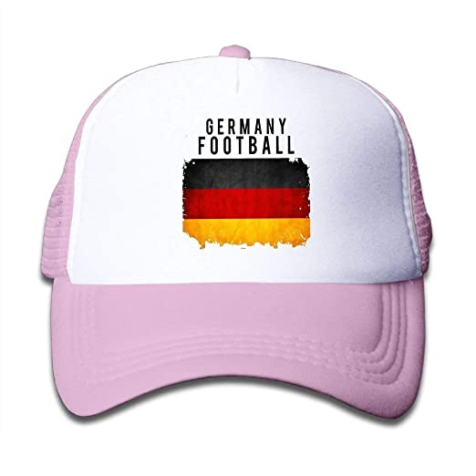 f6cafa97cf1 Image Unavailable. Image not available for. Color  Kid s Boys Girls Germany  Football 2018 Youth Mesh Baseball Cap Summer Adjustable Trucker Hat Pink
