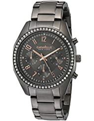 Caravelle New York Womens 45L161 Swarovski Crystal  Stainless Steel Watch
