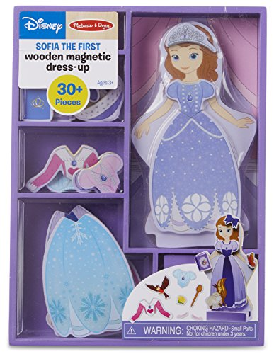 Melissa & Doug Disney Sofia the First Magnetic Dress-Up Wooden Doll Pretend Play Set (30+ pcs) -