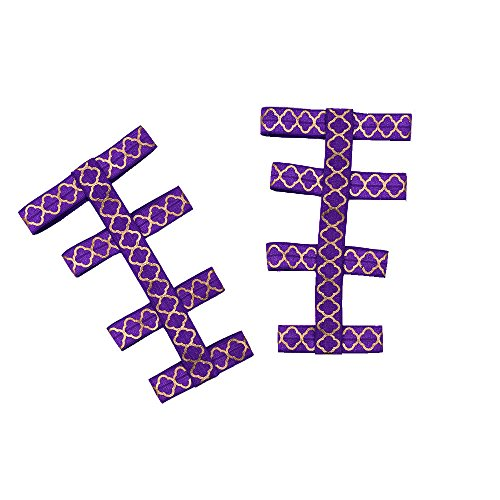 Elaco Baby Girl Geometric Sandal Stretch Infant Barefoot Gladiator Foot Decoration (Purple)