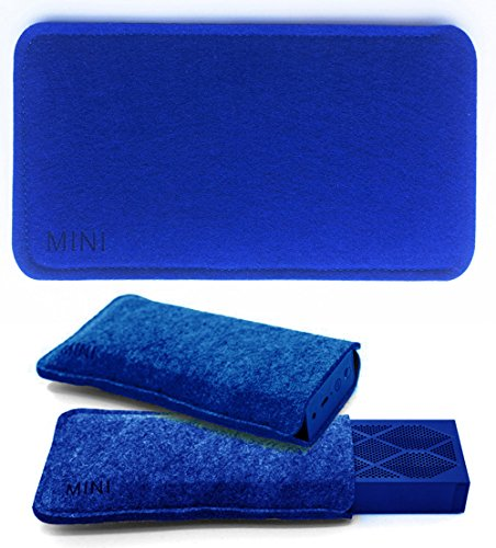 FitSand Travel Soft Slim Carry Portable Protective Bag Case Cover Pouch Box for Jawbone Mini Jambox Wireless Bluetooth Speaker(Deep Blue)