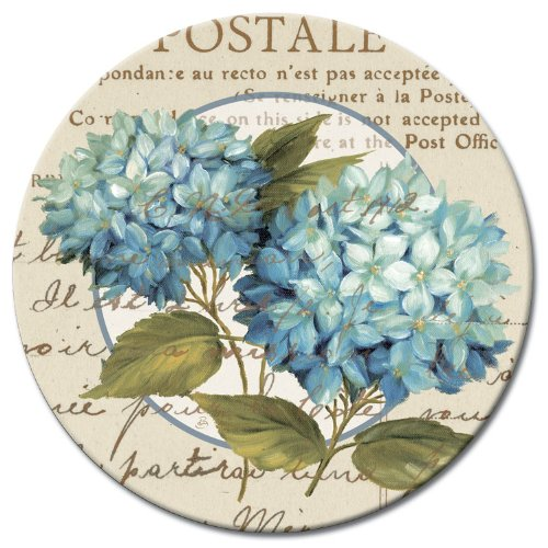 CounterArt Susan Lazy Susan Serving Plate, Blue Hydrangeas by CounterArt (Image #2)