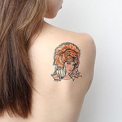 Tatuaje Temporal Tattify - Tocado de León - Leona (Juego de 2 ...