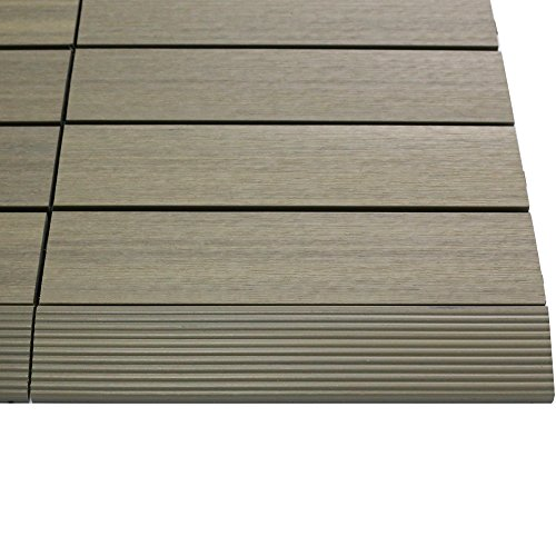 newtechwood us-qd-sf-zx-at 1/1,8 x 0,3 m. Quick Composite Deck Tile Corte Recto en la Antique romana (4 piezas/caja)
