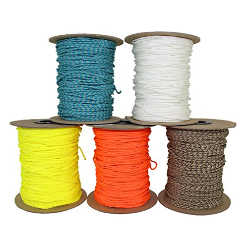 SGT KNOTS Spectra Cord (2.2mm) Speargun Line - Fishing Line - All-Purpose Utility Cord - for Tie-Downs, Gear Bundles, Boot Laces, Camping, Survival, Marine, More (100 Feet Coil - White)