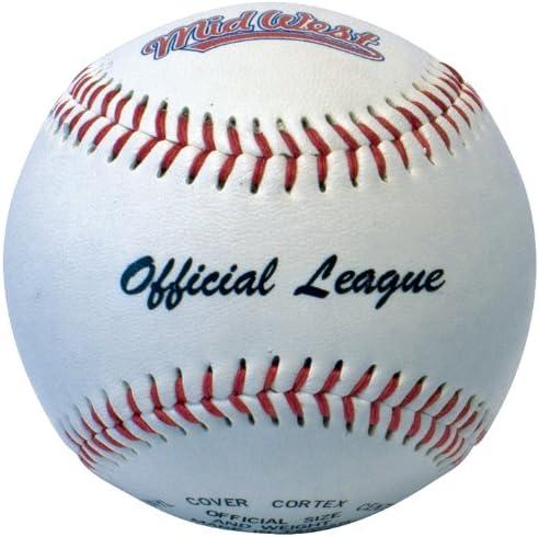 9 inch Ball Brown//White 28 inch Bat Midwest Kids Slugger Set