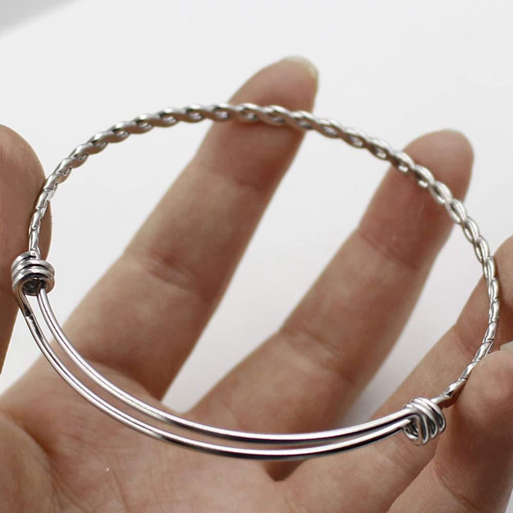Saicowordist ist Bracelet en Acier Inoxydable r/églable /à Torsion Bracelet Coil Main Bague 55//60 mm Cadeau de No/ël Unisexe Cadeau Chaud