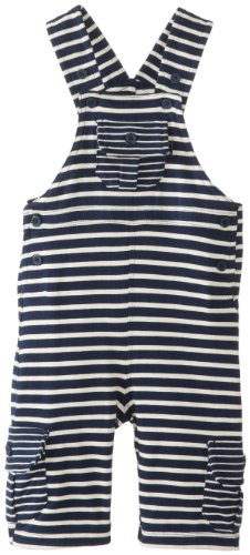 JoJo Maman Bebe Baby-Boys Newborn Striped Jersey Jumper, Navy/Ecru Stripe, 6-12 Months