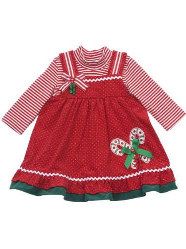 Rare Editions Baby Baby Girls' Corduroy Jumper, Red, 12 Months