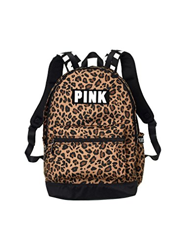 Victorias Secret Pink Campus Backpack Animal Print/Black/White Logo