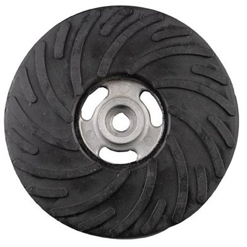 """Air-Cooled Rubber Back-Up Pads - 4 1/2"""" x 5/8-11 medium back-up pad w/o nut"""