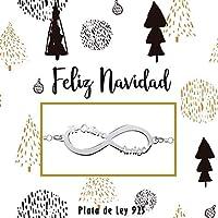 Pulsera Infinito Te Quiero Amiga Plata de Ley - Regalos de Navidad para mejor amiga