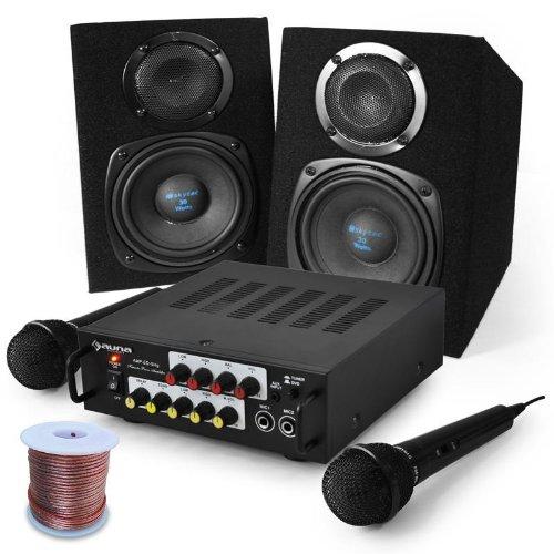 Set karaoke Pony's Ranch microfono casse da 400W E-star e-st-CT-elect-st-23464