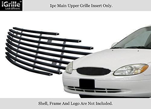 - APS Compatible with 2000-2003 Ford Taurus Black Stainless Steel Billet Grille Grill Insert F65494J