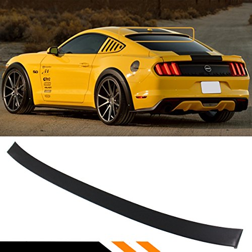 Cuztom Tuning For 2015-2017 Ford Mustang S550 GT Rear Window Roof Spoiler Wing- Matt Black Primer ()