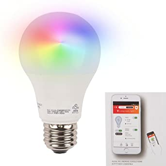 WiFi Smart LED Bombilla Multi Color y Programable Temporizador (75 W equivalente a 1050 lúmenes