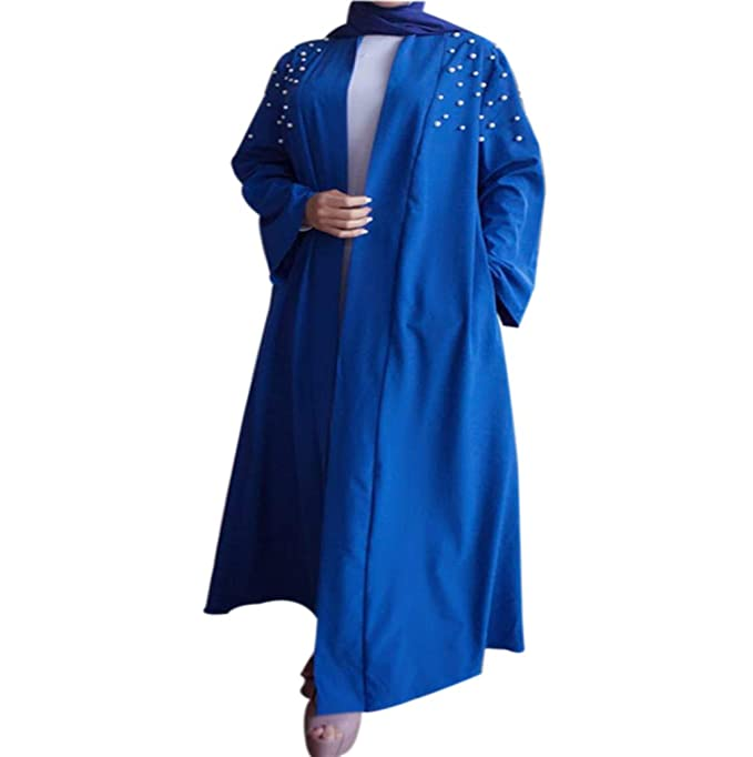 Mujer Casual Cárdigan Islámico Ropa - Vestidos Musulmanes Maxi Mangas Largas Abaya Arabe Talla Extra Túnica: Amazon.es: Ropa y accesorios