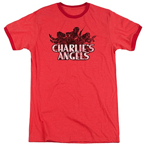 Charlies Angels Charlies Angels Vintage Logo Unisex Adult Ringer T Shirt for Men and Women