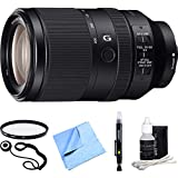 Sony FE 70-300mm F4.5-5.6 G OSS Full-frame E-Mount Lens SEL70300G Essential Accessory Bundle includes Lens, 72mm UV Filter, Lens Cap Keeper, Cleaning Pen, Cleaning Kit and Beach Camera Cloth