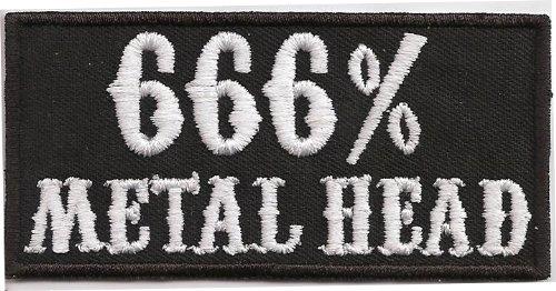 666 Metal Head Heavy Thrash Death Metal Rocker Kutte T-shirt Aufn/äher Patch
