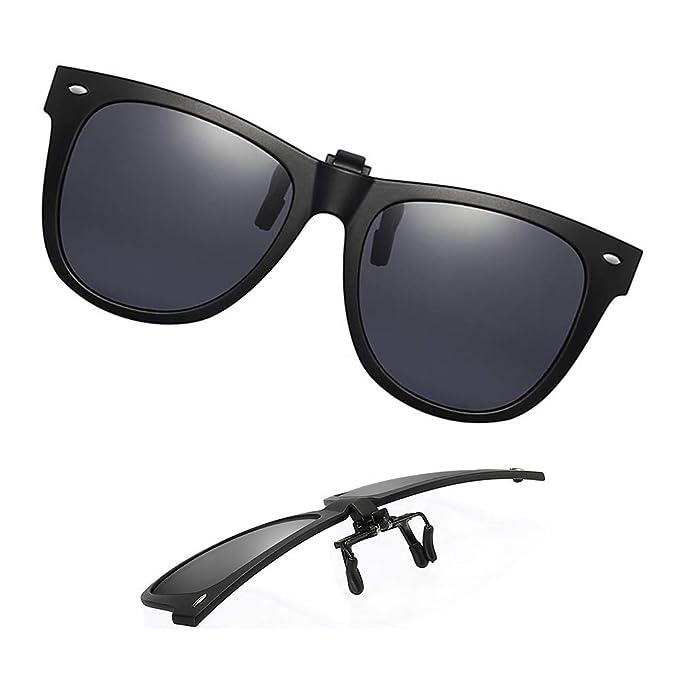 Amazon.com: Gafas de sol polarizadas unisex con clip ...