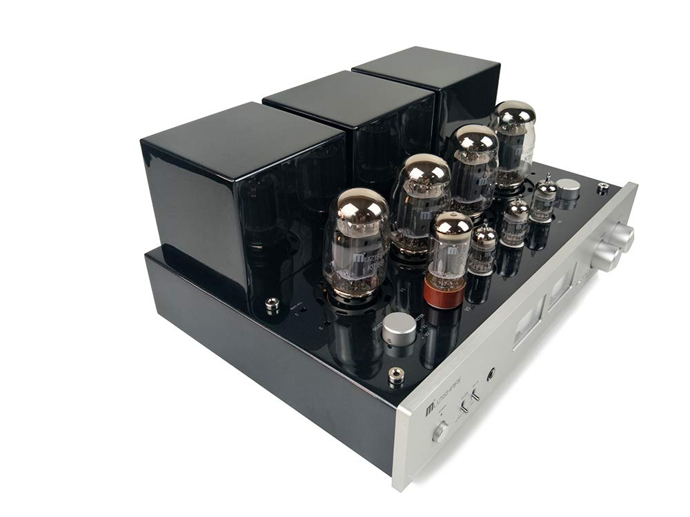 MUZISHARE X7 KT88 x4 Push-Pull Vacuum Tube Integrated Amp Power Amplifier MM Phono amp Remote Upgrade
