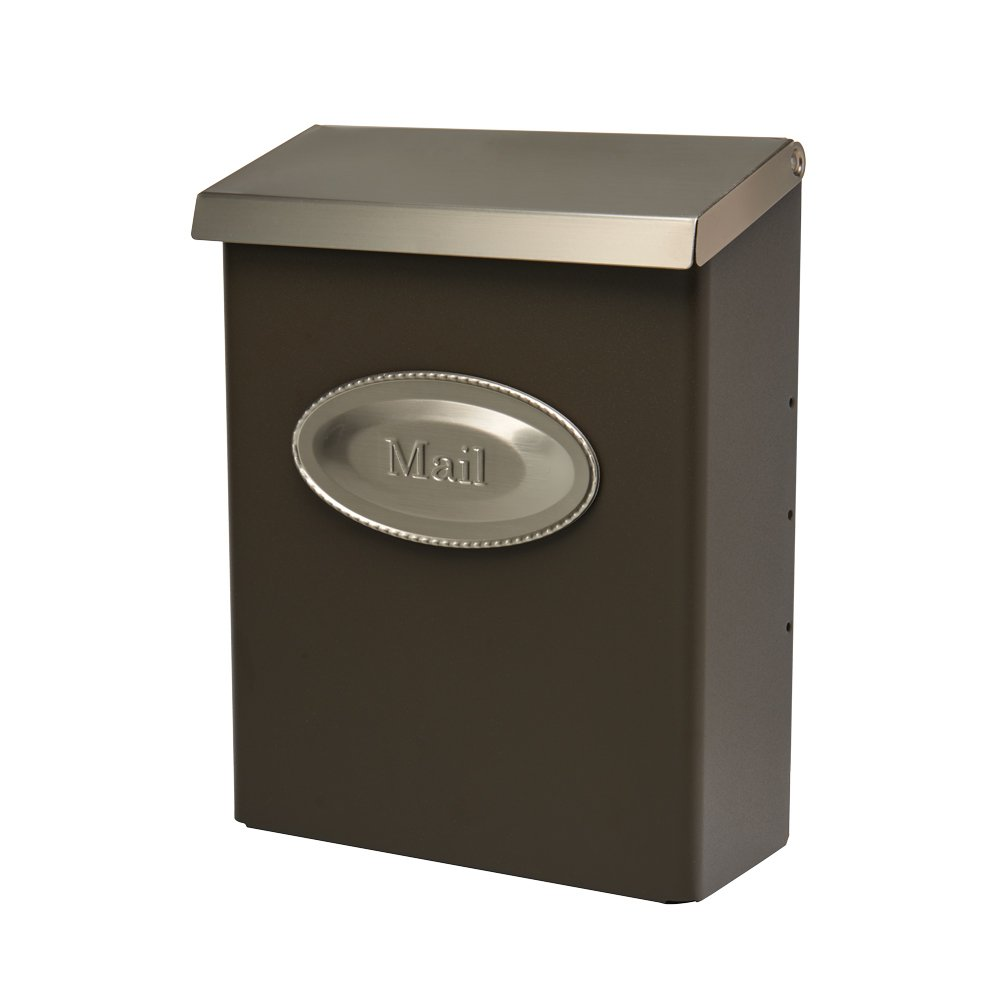 Gibraltar DVKPBZ00 Large Vertical Style Lockable Wall Mount Mailbox, Bronze and Satin Nickel Solar Group