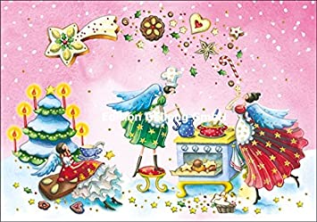 Carte Boulangerie Ange.Carte De Noel Nina Chen Ange Dans La Boulangerie De Noel Amazon