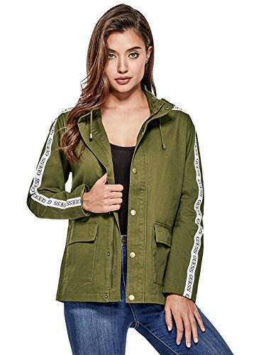 GUESS Factory Women's Rahly Logo Cargo Jacket