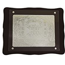 """Ultimate Judaica Challah Tray Wood & Silver Plated, 20"""" X 15"""""""