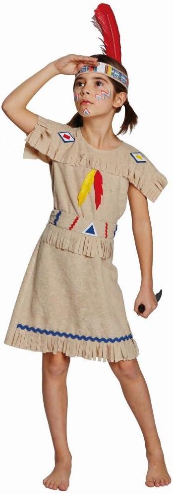 Disfraz de indio americano con diseño de chica con vestido mujer ...