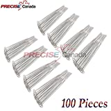PRECISE CANADA: SET OF 100 PEAN HEMOSTAT STRAIGHT 14'' FORCEPS FULL SERRATED STAINLESS STEEL