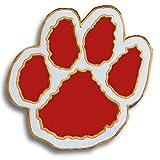 Set of 100 Mascot Pins - Paw (Red/White)
