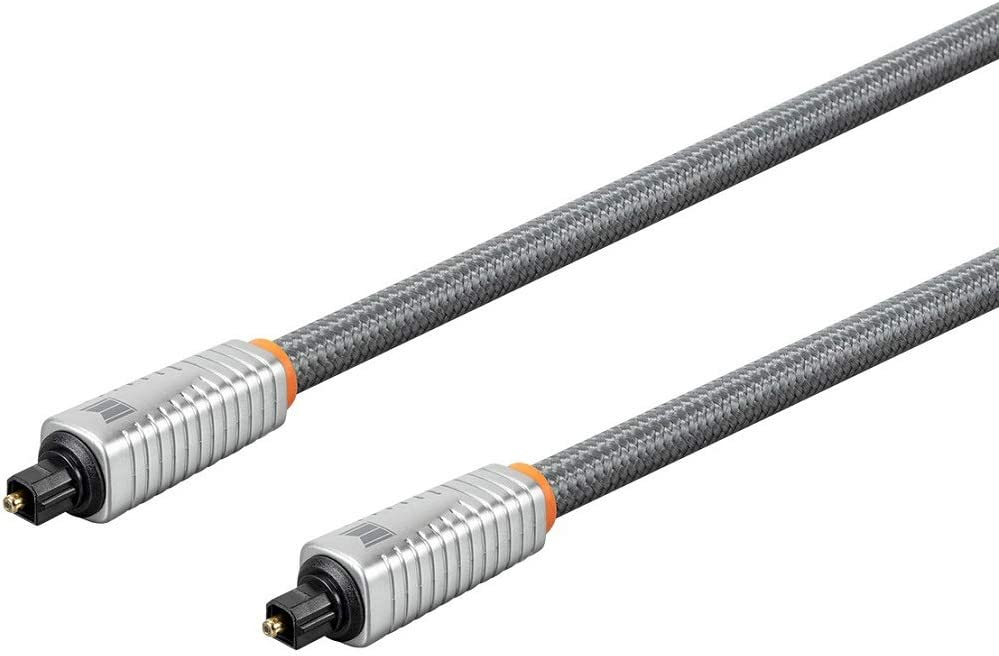 Multicore Optical Fiber Digital Audio Monolith S//PDIF Toslink Optical Cable Strength /& Flexibility 1 Meter with Nylon Braided Jacket