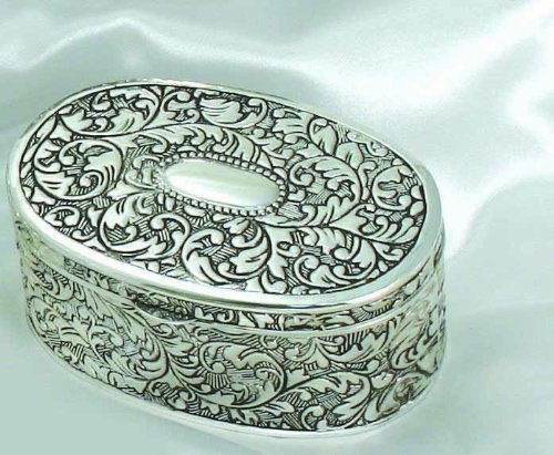 Presentation Gift Oval Box - Antique 3½