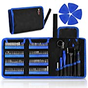 #LightningDeal Kaisi 126 in 1 Precision Screwdriver Set with 111 Bits Magnetic Driver Kit Professional Electronics Repair Tool Kit for Repair Computer, PC, MacBook, Laptop, Tablet, iPhone, Xbox, Game Console