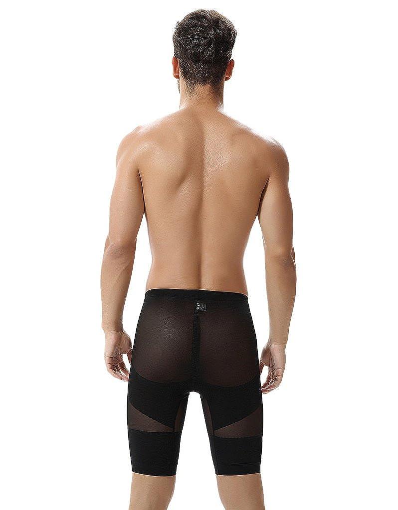 FORWOMEN Mens Body Shaper Tummy Control Slimming Hi-waist Stretch Shapewear Shorts